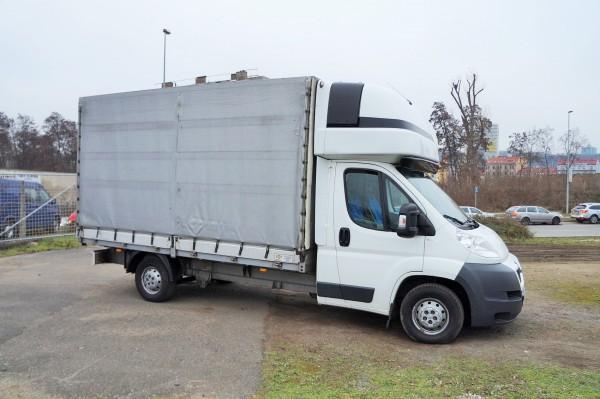 Dodávka Peugeot Boxer 2.2HDI/88kw valník 8 PALET plachta spaní - 2